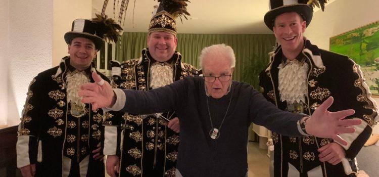 Prins bezoekt erelid Jaap van der Eerden